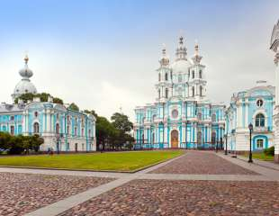 View on Smolnyi cathedral (Smolny Convent) St. Petersburg