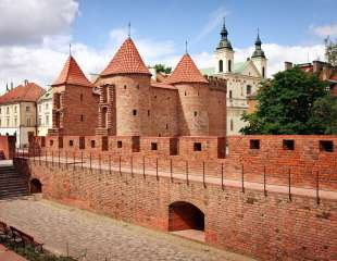 Barbican - Fortified medieval outpost - Warsaw  Poland