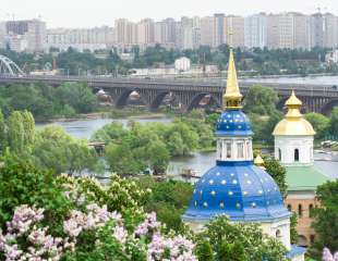 Vydubitskiy monastery it is a monastery complex situated on the picturesque banks of Dnieper in the Vydubich track